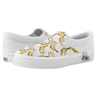 Pattern with banana printed shoes