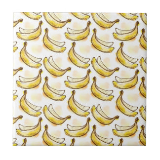 Pattern with banana small square tile