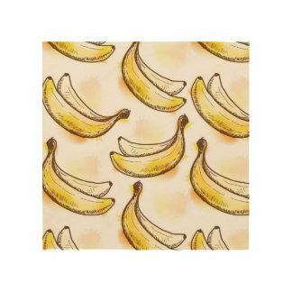 Pattern with banana wood wall decor