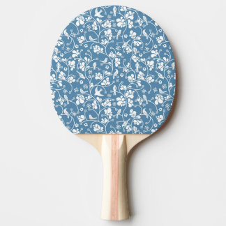 pattern with birds and plants ornament ping pong paddle