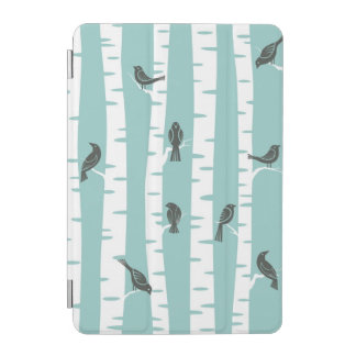 Pattern with birds and trees iPad mini cover