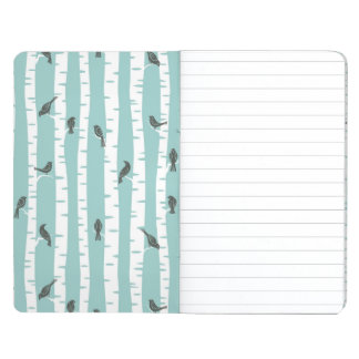 Pattern with birds and trees journal