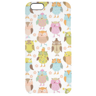 pattern with birds clear iPhone 6 plus case