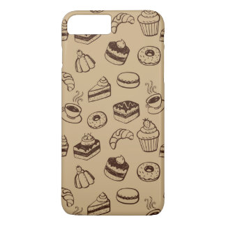 Pattern With Cakes, Desserts And Bakery iPhone 8 Plus/7 Plus Case