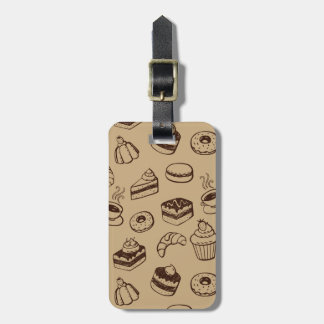 Pattern With Cakes, Desserts And Bakery Luggage Tag