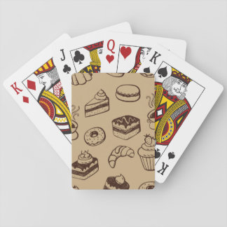 Pattern With Cakes, Desserts And Bakery Playing Cards