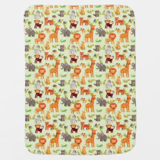 Pattern With Cartoon Animals Baby Blanket