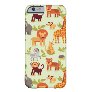 Pattern With Cartoon Animals Barely There iPhone 6 Case