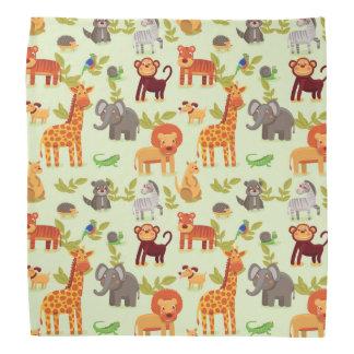 Pattern With Cartoon Animals Do-rag