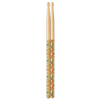 Pattern With Cartoon Animals Drumsticks