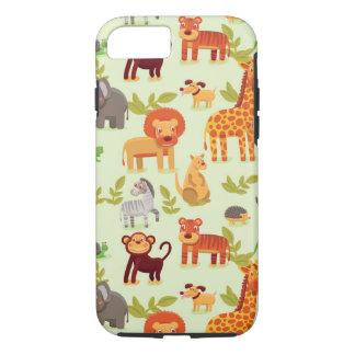 Pattern With Cartoon Animals iPhone 7 Case