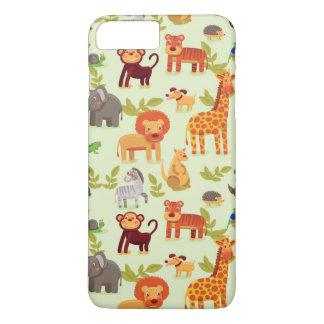 Pattern With Cartoon Animals iPhone 7 Plus Case
