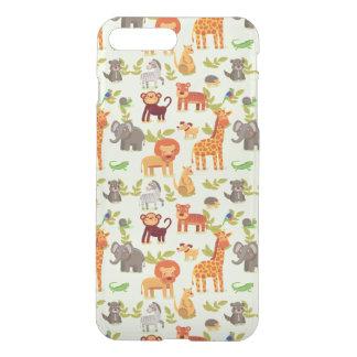Pattern With Cartoon Animals iPhone 8 Plus/7 Plus Case