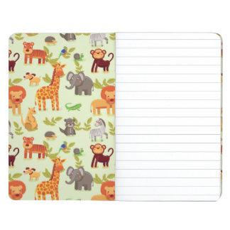 Pattern With Cartoon Animals Journals
