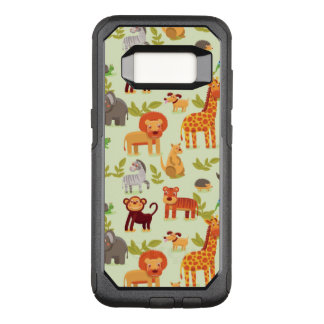 Pattern With Cartoon Animals OtterBox Commuter Samsung Galaxy S8 Case