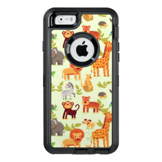 Pattern With Cartoon Animals OtterBox Defender iPhone Case