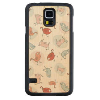 pattern with cartoon birds maple galaxy s5 slim case