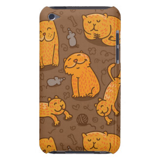 Pattern With Cats Barely There iPod Cases