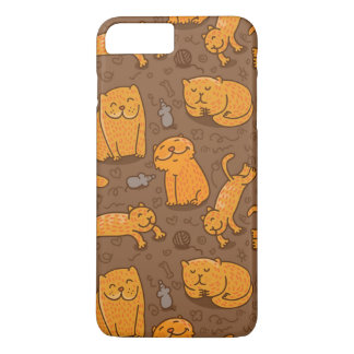 Pattern With Cats iPhone 8 Plus/7 Plus Case