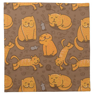 Pattern With Cats Napkin