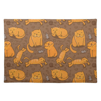 Pattern With Cats Placemat