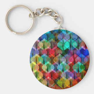 pattern with Christmas balls Basic Round Button Key Ring