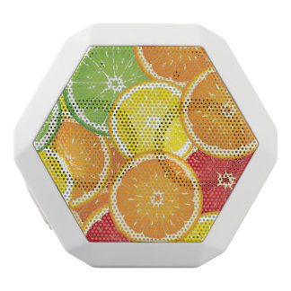 Pattern with citrus fruits white boombot rex bluetooth speaker