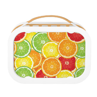 Pattern with citrus fruits lunch box