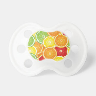 Pattern with citrus fruits pacifier