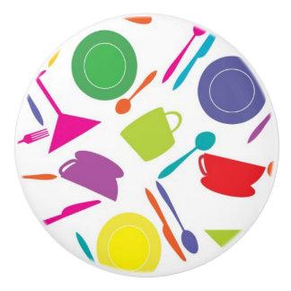 Pattern With Colored Kitchen Stuff Ceramic Knob