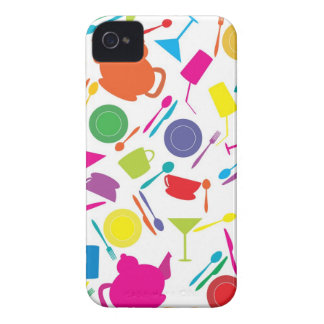 Pattern With Colored Kitchen Stuff iPhone 4 Case