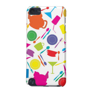 Pattern With Colored Kitchen Stuff iPod Touch (5th Generation) Covers