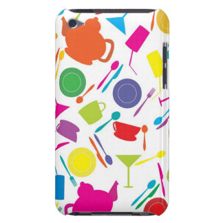 Pattern With Colored Kitchen Stuff iPod Touch Covers