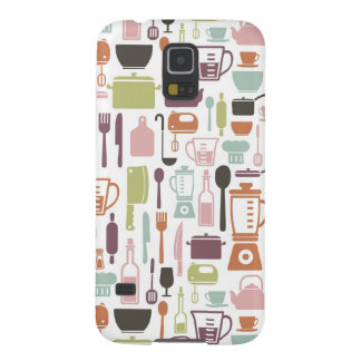 Pattern with colorful cooking icons cases for galaxy s5