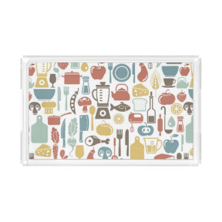 Pattern with cooking icons