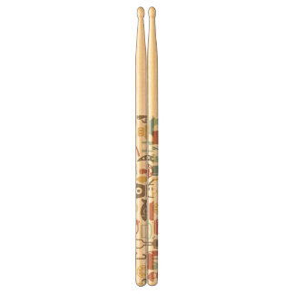 Pattern with cooking icons drumsticks