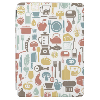 Pattern with cooking icons iPad air cover