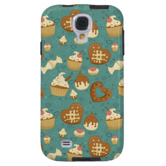 Pattern with cupcakes and candies galaxy s4 case