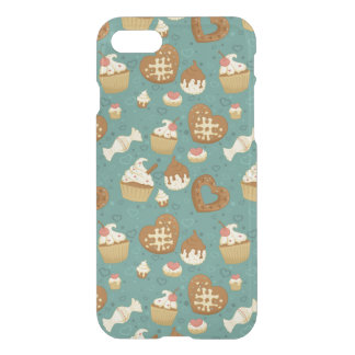 Pattern with cupcakes and candies iPhone 8/7 case