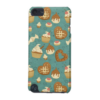 Pattern with cupcakes and candies iPod touch (5th generation) cases
