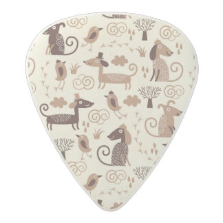 pattern with cute dogs acetal guitar pick
