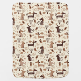 pattern with cute dogs baby blanket