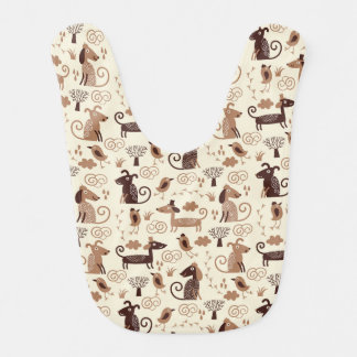 pattern with cute dogs bib
