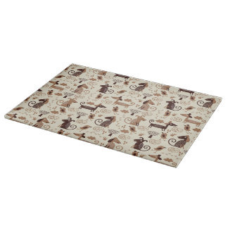 pattern with cute dogs cutting board