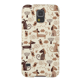 pattern with cute dogs galaxy s5 covers