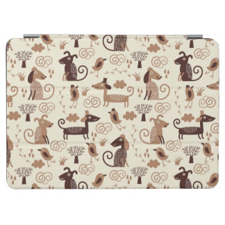 pattern with cute dogs iPad air cover