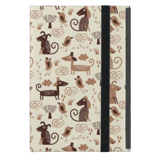 pattern with cute dogs iPad mini case