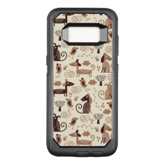 pattern with cute dogs OtterBox commuter samsung galaxy s8 case