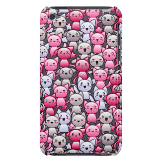 pattern with cute kawaii doodle cats 2 Case-Mate iPod touch case
