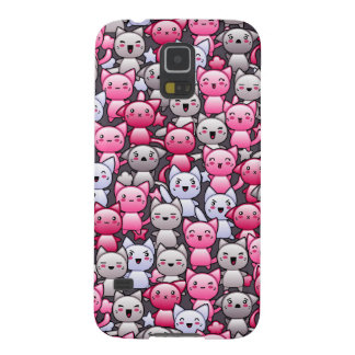 pattern with cute kawaii doodle cats 2 galaxy s5 covers